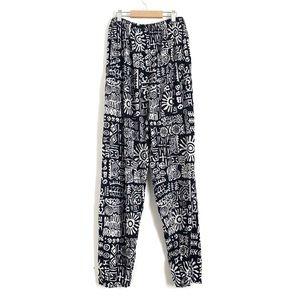 Vintage Tribal Rayon Elastic Waist Pants C3